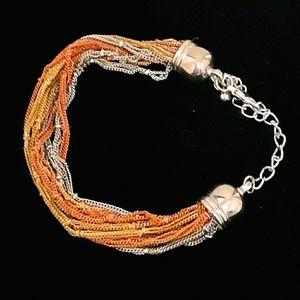 🍒 Multi color strands chains woman bracelet
